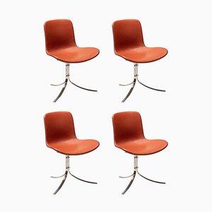 PK9 Chairs by Poul Kjaerholm for Fritz Hansen, Set of 4