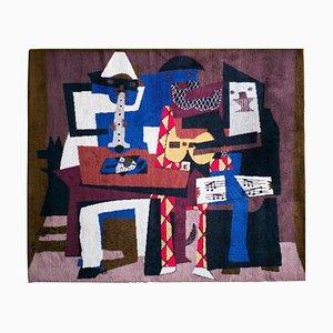 Musicus Con Mascaras, Großer Wollteppich, Pablo Picasso