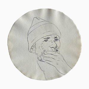 Stampa RB Kitaj di Self-portrait in a Convex Mirror
