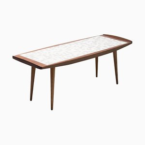 Abstract Tile Coffee Table in Teak
