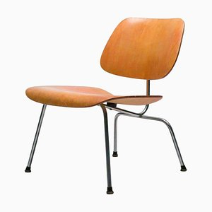 Early LCM Chair with Red Aniline Dye Finish by Eames