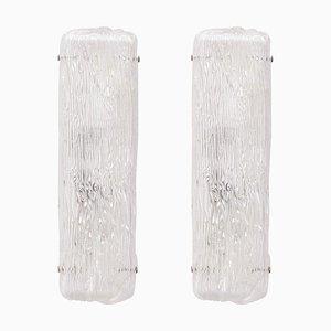 Große Wandleuchten aus Muranoglas von Toni Zuccheri für Venini, 2er Set