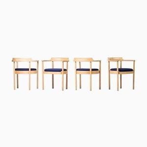 M40 Dining Chairs by Henning Jensen & Torben Valeur, Set of 4
