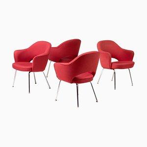 Chefsessel von Saarinen für Knoll International, 4er Set