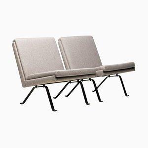 Skandinavische architektonische Sessel, 2er Set