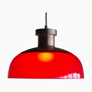 Rote 4017 Hängelampe von Achille Castiglioni für Kartell