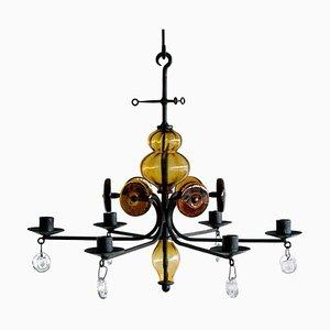 Candle Kronleuchter von Erik Hoglund für Boda Glasbruk