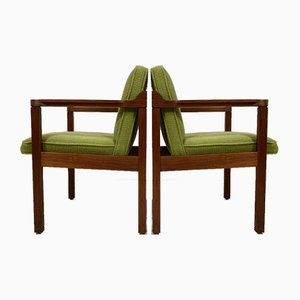 American Solid Walnut Armchairs, Set of 2