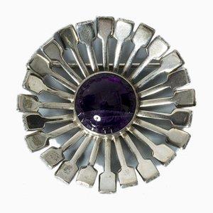 Silber und Amethyst Brosche von Victor Jansson