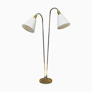 Swedish Brass E771 Floor Lamp by Sonja Katzin for ASEA, 1950s
