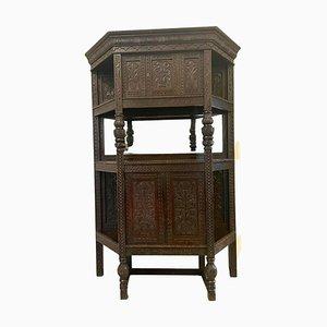 Large Antique Victorian Carved Oak Side Cabinet
