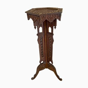 Antique Edwardian Carved Plant Stand