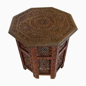 Antique Edwardian Carved Hexagonal Coffee Table