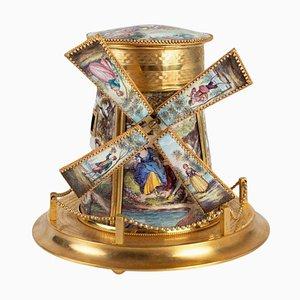Bronze Windmill Music Box