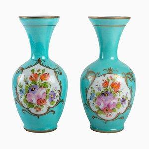 Opaline Vases, Late 19th Century, Set of 2