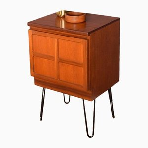 Square Teak Cabinet or Side Unit on Hairpin Legs from Nathan, 1960s