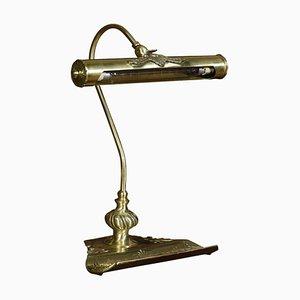 Brass Banker's Desk Lamp