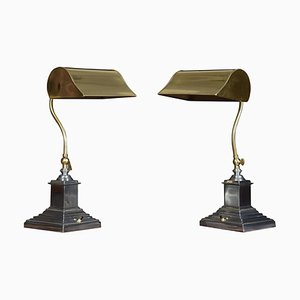 Adjustable Banker's Desk Lamps, Set of 2