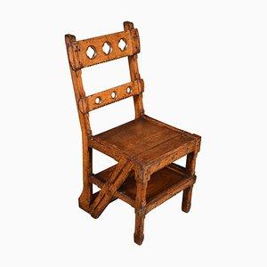 Gothic Revival Metamorphic Chair aus Eiche
