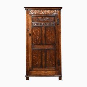 Carved Oak Hall Wardrobe