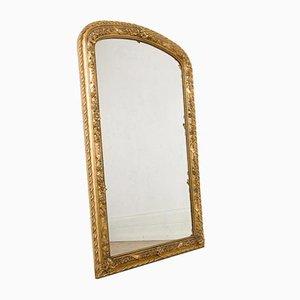 Antiker französischer Spiegel mit gewölbtem Rahmen, 1890er