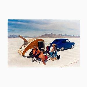 Christine's '52 Henry J & Teardrop Caravan, Bonneville, Utah, Color Photography, 2003