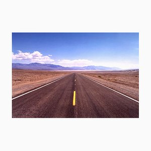 The Road to Death Valley, Mojave Desert, California, Landscape Color Photograph, 2001