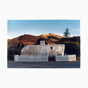 RV in the Morning Sun, Bisbee, Arizona, American Color Photography, 2001