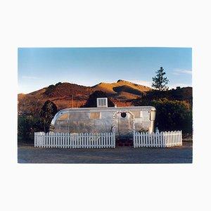 Wohnmobil in der Morgensonne, Bisbee, Arizona, amerikanische Farbfotografie, 2001