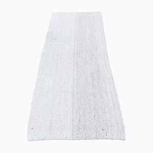 Vintage Turkish Handmade Wool Oushak Flatweave Runner