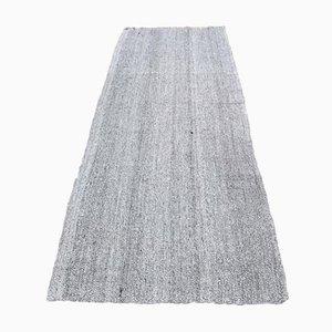 Vintage Turkish Handmade Wool Oushak Kilim Runner Rug in Gray