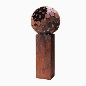 Foco exterior, globo terráqueo con pedestal, 2021