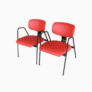 Vintage Belgian F1 Chairs by Willy Van Der Meeren for Tubax / Vilvoorde, Set of 2