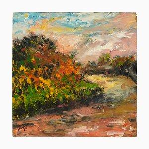 Huile sur Bois Paysage par Charles Edouard, 1930s