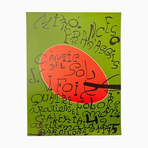 Abstract Expressionism Exhibition Poster by Joan Miró, 1975