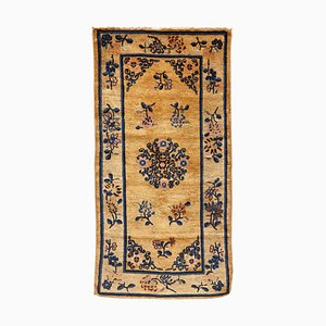 Chinese Export Hand Knotted Wool Ningshia Rug, 1900s