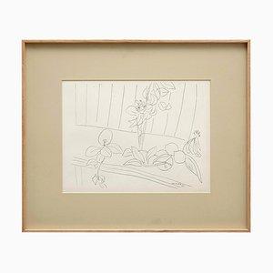 Lithografie nach Zeichnung von Henri Matisse