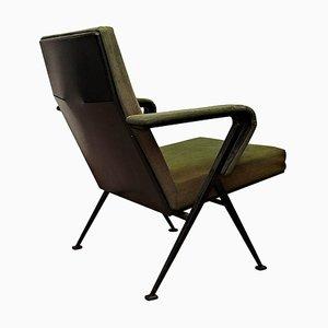 Mid-Century Modern Green Upholstered Armchair by Friso Kramer for Ahrend De Cirkel, 1969