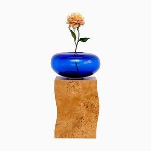 Q Limited Edition Vase aus Holz und Murano Glas für Blumen von Ettore Sottsass