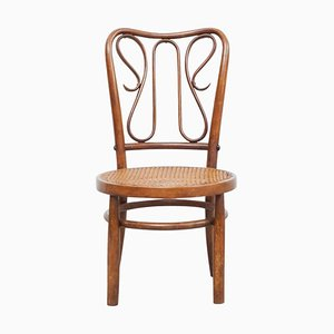 Bentwood Chair in Rattan and Wood, 1940s