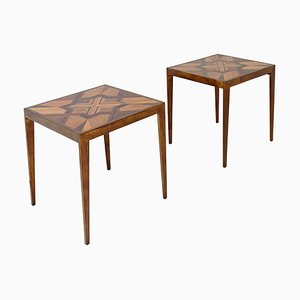 Side Tables in Various Noble Woods, Set of 2