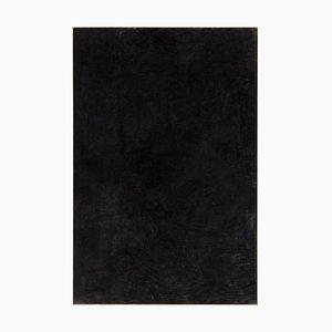 Enrico Della Torre, große minimalistische abstrakte schwarze Kohle