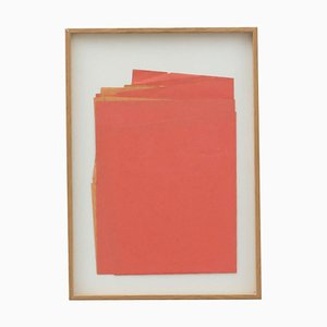 Contemporary Artwork Red Paper Composition by Sandro