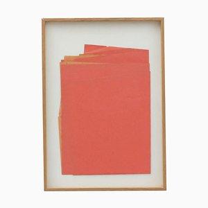 Opera d'arte contemporanea in carta rossa di Sandro