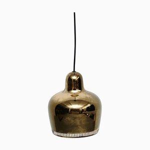 Goldene Bell Hängelampe von Alvar Aalto für Artek, 1950er