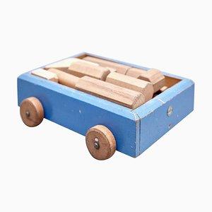 Mid-Century Modern Car Construction Spielzeug aus Holz von Ko Verzuu für ADO, Niederlande