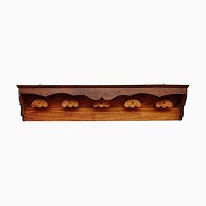 Spanische rustikale Wandgarderobe aus Holz