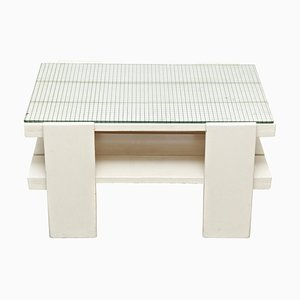 Mid-Century Modern White Wood Table in the Style of Gerrit Rietveld, 1950s