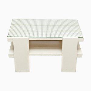 Weißer Mid-Century Modern Holztisch im Stil von Gerrit Rietveld, 1950er