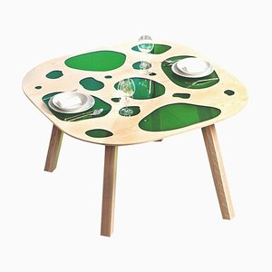 Prototype Aquario Table in Glass and Wood by Campana Brothers